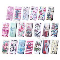 For Apple Samsung Various Painted Card Stand Faux Leather Wallet Flip Case Cover #UnbrandedGeneric #CardPocketMoneySlotStandMagneticFlip