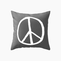 Peace Cushion - Black