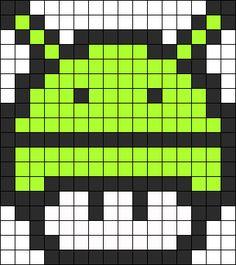 Android Mushroom perler bead pattern