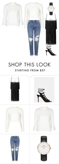 """School 5"" by mirka-i on Polyvore featuring MANGO, Topshop and Daniel Wellington"