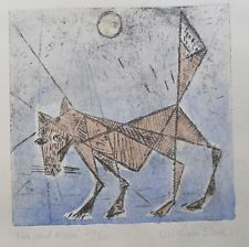 """Limited edition print. """"Fox and Moon"""""""