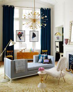 "aaf950bddda52 Jonathan Adler  ""Our signature sofa gets a conversation-making makeover.  Our Lampert"