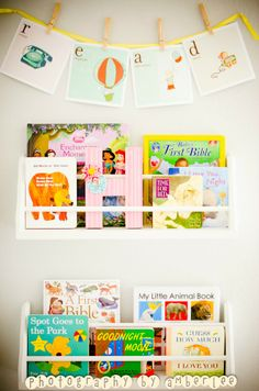Organize your children's books and create this great display in their bedroom or playroom!