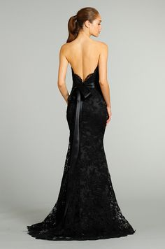 Jim Hjelm bridesmaid... love the back for a wedding dress!