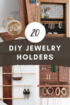 Need a better solution for tangled necklaces and stray earrings? Make a DIY jewelry holder or jewelry organizer and get your accessories in order. DIY Necklace Holder | DIY Earring Holder | Necklace Storage Ideas | DIY Earring Organizer Diy Necklace Holder, Diy Earring Holder, Necklace Storage, Diy Jewelry Holder, Creative Storage, Diy Storage, Jewelry Organization, Storage Ideas, Organization Ideas