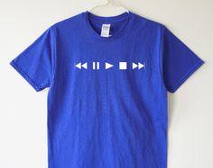 Music shirt symbol shirt rewind pause play stop tee hipster tee women shirt men shirt women tee shirt men tee shirt women tshirt men tshirt