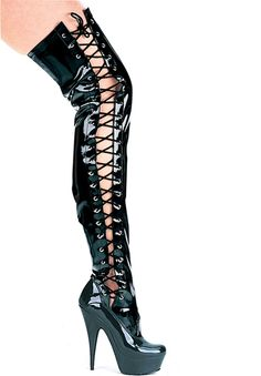 0ed75aad5ae Ellie shoes Sharp high heel large platform boots comes in black tone body  with slit design on side done with cross string in panel hole design