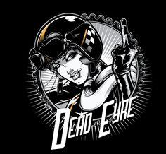 """Dead Eyre Clothing T-Shirt Design """"Cafe Chick"""" on Behance"""