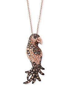 EFFY® Confetti Diamond Bird Pendant Necklace (5/8 ct. t.w.) in 14k Rose Gold