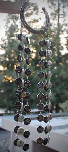 Horseshoe & Bottle Cap Wind Chime by SierraArtisanCrafts on Etsy