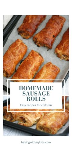 Turn your favourite sausages into these delicious, easy homemade sausage rolls with a little ready made puff pastry. They're a simple, and quick lunch or dinnertime treat for kids. #sausage rolls #puff pastry #homemade #hidden veggies #recipe #easy #british #how to make #pork Easy Family Dinners, Easy Meals, Sausage Rolls Puff Pastry, Homemade Sausage Rolls, Sausage Breakfast, Kids Meals, Food And Drink, Cooking, Fussy Eaters