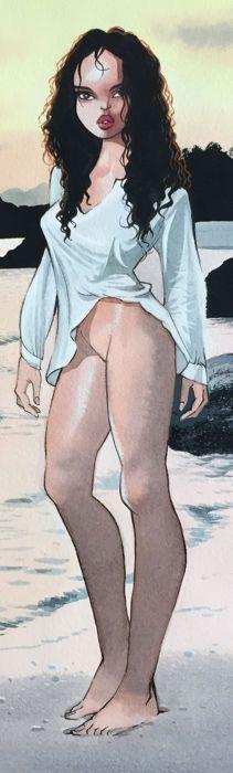 "Gürsel, Gurcan - original drawing - ""Blagues Coquines"" (naughty jokes) - W.B."