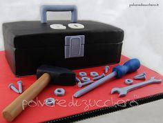 torta cassetta degli attrezzi in pasta di zucchero cake toolbox sugarpaste Tool Box Cake, Danish Bakery, Cupcake Cakes, Cupcakes, Cakes For Men, Sugar Art, Cake Art, Cake Decorating, Polymer Clay