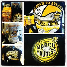 Stop by the Shocker Locker to pick up your men's and women's NCAA gear before the big games. #WATCHUS DANCE!