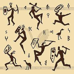 Illustration about Primitive rock painting. Illustration of artwork, background, icon - 10341802 Arte Tribal, Tribal Art, Shaman Symbols, Ancient Tattoo, Stone Age Art, Primitive Painting, Bone Crafts, Madhubani Painting, Africa Art
