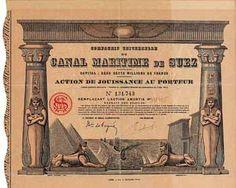 Cie. Universelle du Canal Maritime de Suez Action de Jouissance 2.6.1924 (R 10).