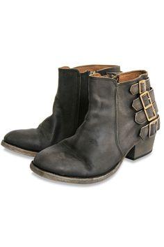 H by Hudson Encke Buckle Ankle Boot = badass