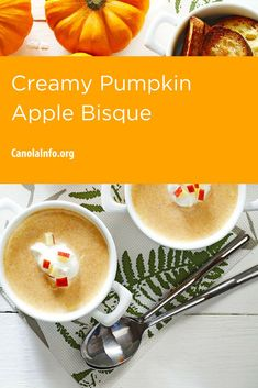 Stay in and enjoy the taste of Autumn with this decadent soup. Pumpkin Recipes, Fall Recipes, Sour Cream, Soup, Apple, Meals, Fruit, Cooking, Autumn