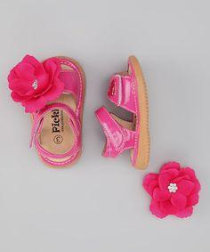 Pickle Footwear Hot Pink Patent Convertible Squeaker Sandal  http://www.zulily.com/invite/jpalmer893/p/pickle-footwear-hot-pink-patent-convertible-squeaker-sandal-25697-1892268.html?tid=referral_pinterest