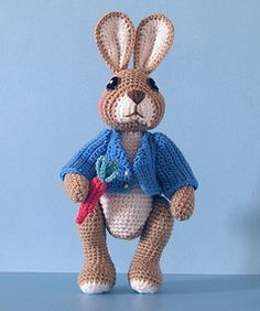 Robbie Rabbit free crochet pattern by Sue Pendleton, thank so for kind share download xox