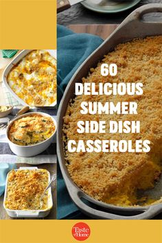 Think beyond salads and grilled veggies: these delicious casseroles make superb summer side dishes! Use your summer vegetables and make an outstanding side for your next big meal. Grilled Side Dishes, Summer Side Dishes, Grilled Veggies, Big Meals, Fresh Fruits And Vegetables, Casserole Recipes, Summer Recipes, Casseroles, Macaroni And Cheese