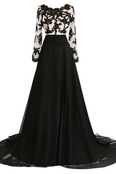 """Sunvary B&W Dress with Long Sleeves - It might be classified as a """"Mother of the Bride"""" dress, but I really just think it looks classy.  // Plus Size Dresses"""