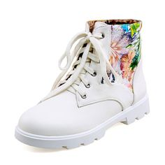 BalaMasa Girls Printing Color Matching Thick Bottom Heel Imitated Leather Boots *** Quickly view this special boots, click the image : Rain boots