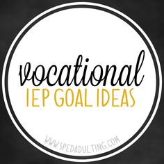 Life Skills IEP goal ideas in the area of vocation for special education. Life Skills Classroom, Life Skills Activities, Teaching Life Skills, Special Education Classroom, Teaching Tools, Autism Classroom, Classroom Ideas, Future Classroom, Teacher Resources
