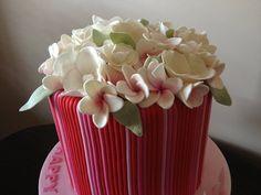 Frangipani  cake ~  with 30 hand made edible flowers