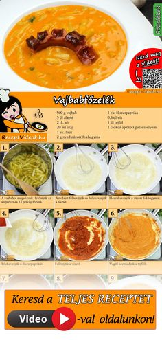 Veggie Recipes, Real Food Recipes, Soup Recipes, Vegetarian Recipes, Cooking Recipes, Healthy Recipes, Hungarian Recipes, English Food, Vegan Dishes