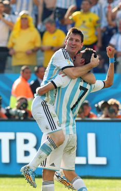 Lionel Messi  Angel Di Maria, FIFA World Cup Brazil, 2014.7.1