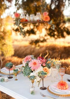 Modern, rustic wedding inspiration | Photo by Megan Tsang Photography | Read more  -  http://www.100layercake.com/blog/?p=66470