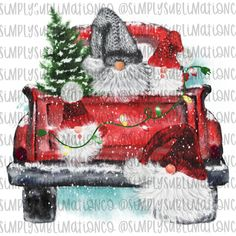 Christmas Gnome Red Truck Ready to Press Sublimation Transfer Christmas Truck, Christmas Gnome, Christmas Art, Christmas Decorations, Christmas Ornaments, Christmas Thank You, Christmas Swags, Nordic Christmas, Burlap Christmas