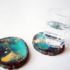 Green And Gold, Blue Green, Wooden Slices, Resin, Natural, Instagram, Duck Egg Blue, Nature, Au Natural