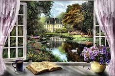 Image result for painting with view through a window