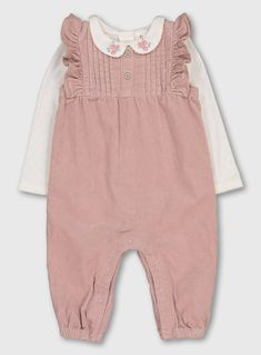 Buy Pink Romper & Bodysuit Set - Up to 1 mth at Argos. Thousands of products for same day delivery or fast store collection. Cute Baby Girl Outfits, Baby Outfits Newborn, Kids Outfits, Baby Girls, Sewing Doll Clothes, Baby Doll Clothes, Girls Clothes Shops, Teddy Bear Clothes, Manualidades