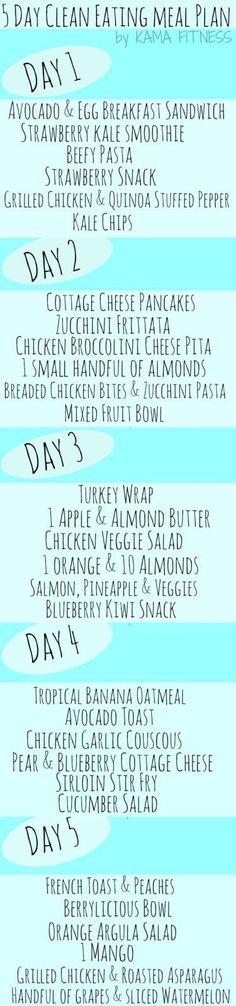 One Month Clean Eating Meal Plan & Healthy Grocery List {Week 1}
