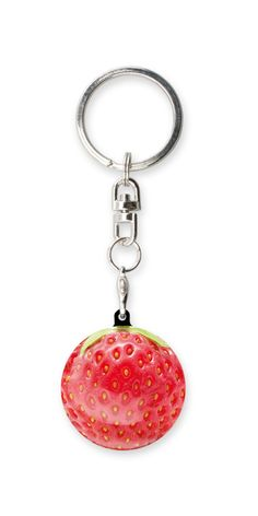 FRUITY-025 KEYRING STRAWBERRY