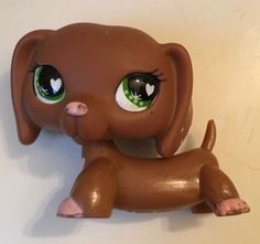 littlest pet shop lps 640 dachshund brown dog swirls blue diamond eyes rare ebay lps pinterest. Black Bedroom Furniture Sets. Home Design Ideas