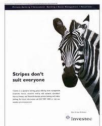 Dieren in de reclame - Paarden: Zebra