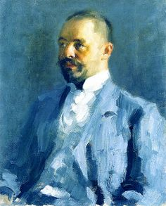 Alexej von Jawlensky (1864–1941), Self-portrait-, circa 1900.  Expressionst.  Born in Torzhok, Tver Governorate, Russian Empire. A member of  New Munich Artist's Association (Neue Künstlervereinigung München), Der Blaue Reiter (The Blue Rider) group and the Die Blaue Vier (The Blue Four).