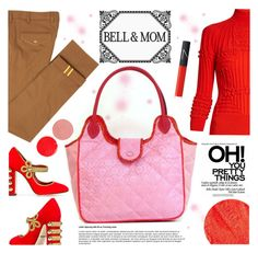 """BELL&MOM"" by gaby-mil ❤ liked on Polyvore featuring Mary Katrantzou, Diverso, Dolce&Gabbana, Lipstick Queen, Wander Beauty, NARS Cosmetics, handbag, handmade and bellandmom"