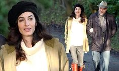 Amal Clooney covers up in a loose sweater amid pregnancy rumours #DailyMail