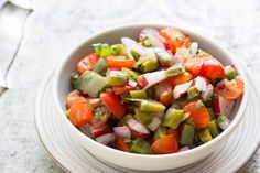 Ever eat cactus? Nopalitos are so GOOD! This easy, budget-friendly salad is a classic Mexican cactus salad with chopped prickly pear cactus paddles (nopalitos), tomatoes, onions, and radishes. Nopales Salad, Nopales Recipe, Miso Dressing, Dressing Recipe, Simply Recipes, Quick Recipes, Cactus Salad, Wedge Salad, Greek Salad