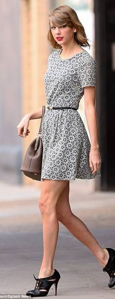 GIRL CRUSH ALERT! Steal Taylor Swift's style with our Oasis Embroidered Skater Dress.