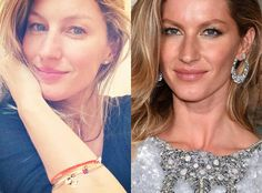 Gisele Bündchen from Stars Without Makeup  No makeup? No fair! Gisele skips the concealer and still looks like, well, a supermodel.