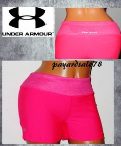 657e78fd818 WOMEN S MEDIUM UNDER ARMOUR FITTED SONIC SHORTY PRINT HOT PINK SHORTS 3