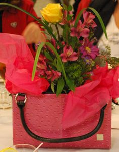 Miche Bag Centerpiece - great idea, definitely more uses to justify their existance in the house