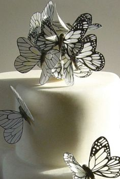 Nicky Grant rice paper butterflies..