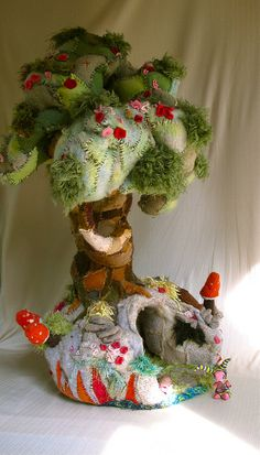 Beautiful textile tree with cave underneath